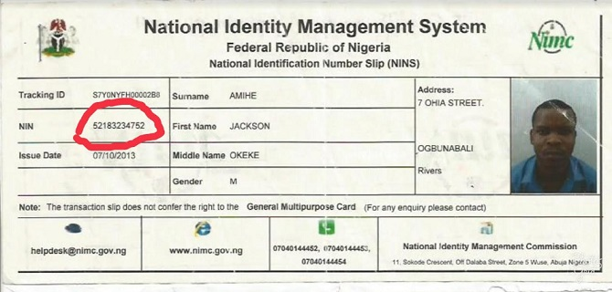 Cost of international passport in Nigeria - NIN card