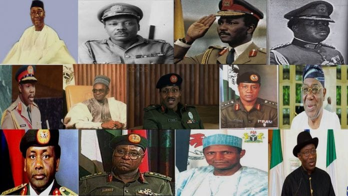 Full List of all Nigerian Presidents - Head of states