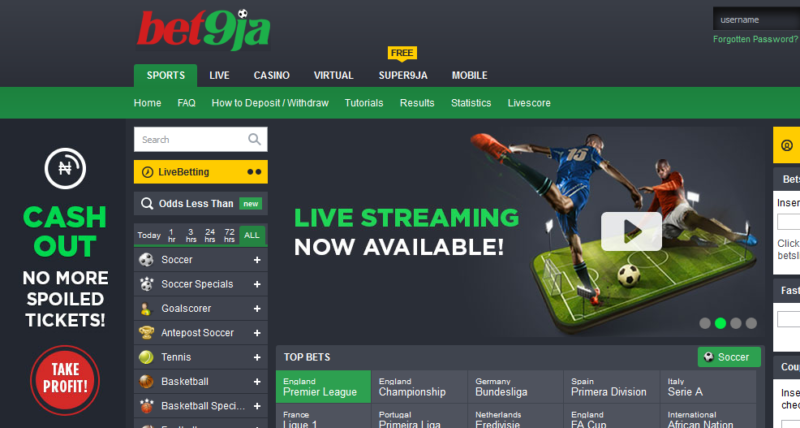 list of betting site