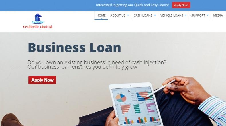 Creditville loan site