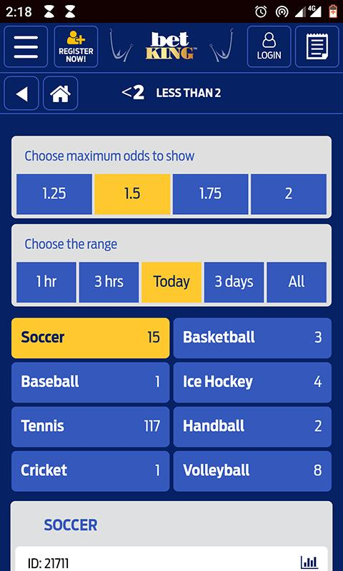 Betking mobile application