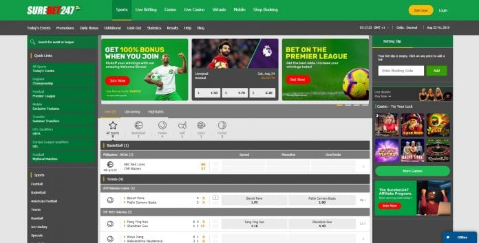 SureBet247 Booking Site