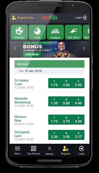 bet9ja mobile app registration