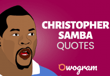 Powerful Christopher Samba Quotes