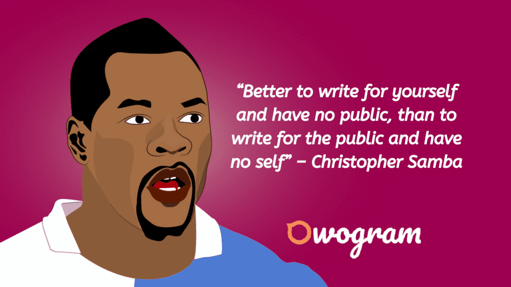 Christopher Samba's wise sayings