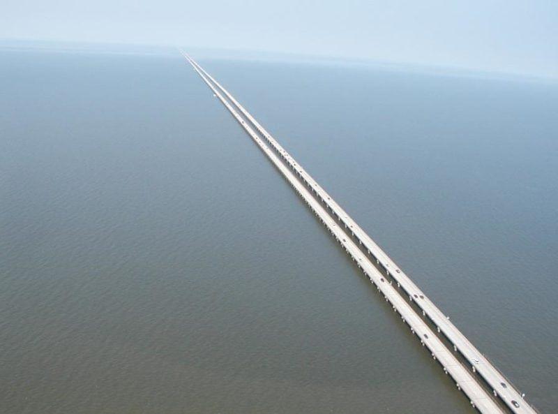 Manchac Swamp Bridge in USA