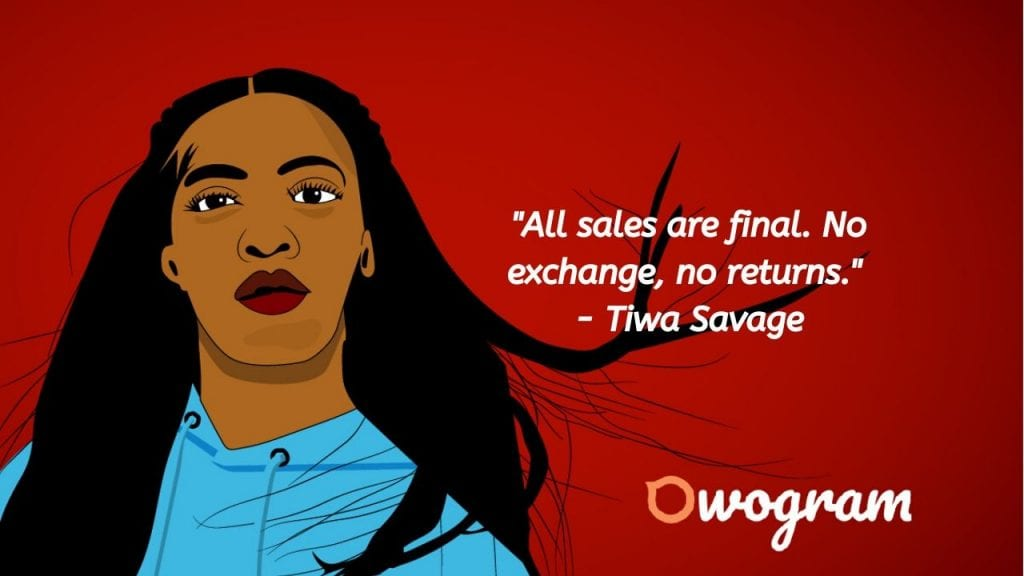 Tiwa quotes about business