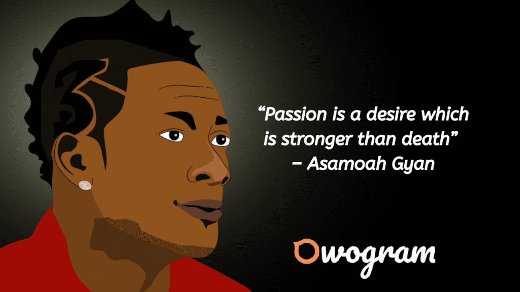Wise words by Asamoah