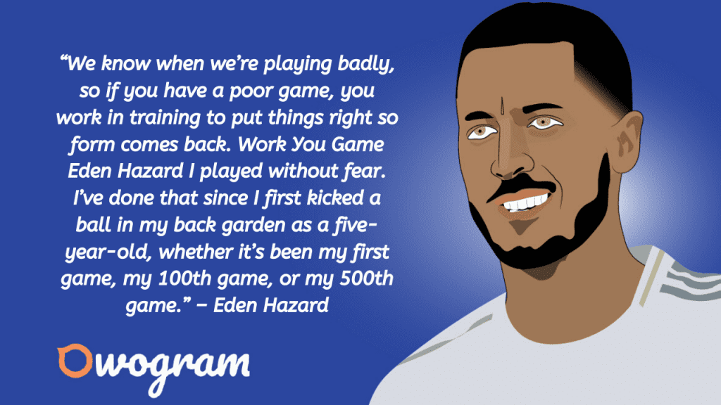 Hazard quotes about soccer
