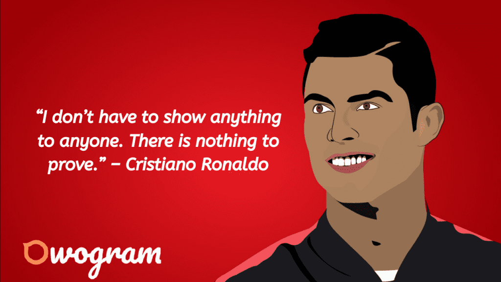 words from Ronaldo