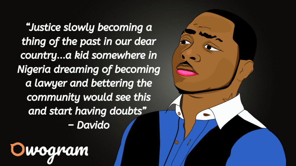 Davido quotes about Nigeria
