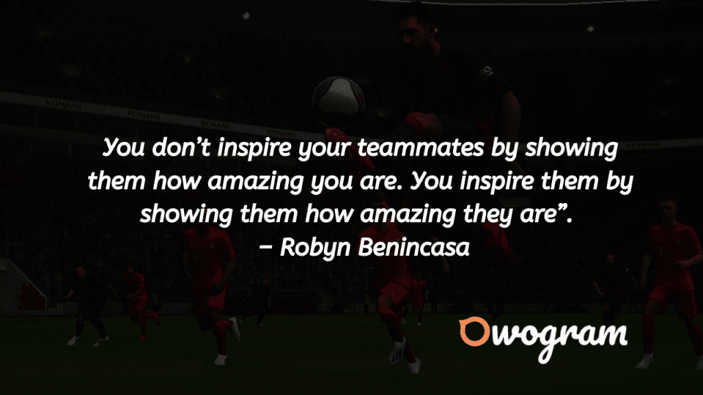 Team play quotes from football