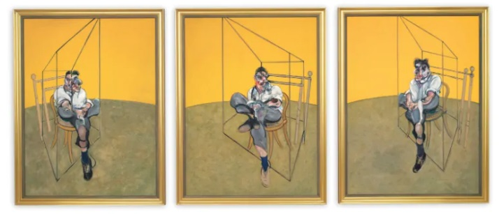 Most Expensive Paintings Three Studies of Lucian Freud – Francis Bacon
