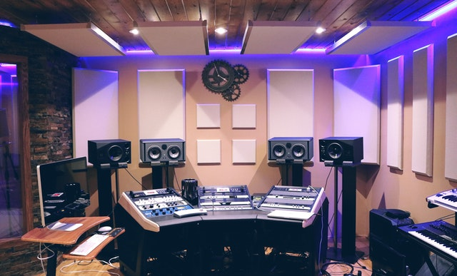 Music studio and production equipment
