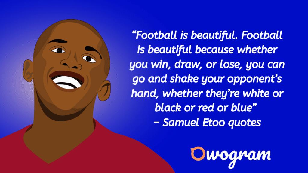 Etoo Wise sayings