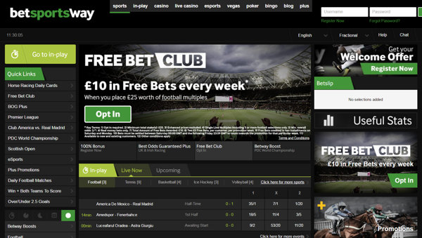Betting sites - Betway