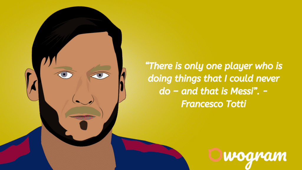 Quotes from Totti