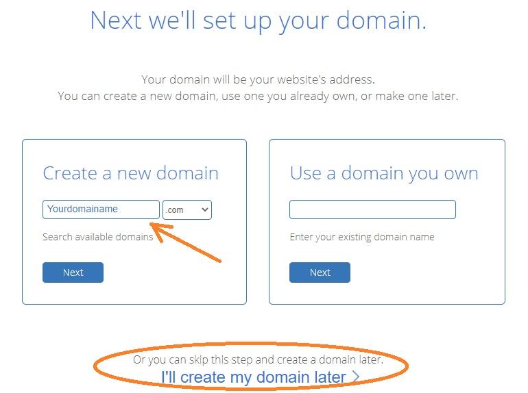 Put domain name