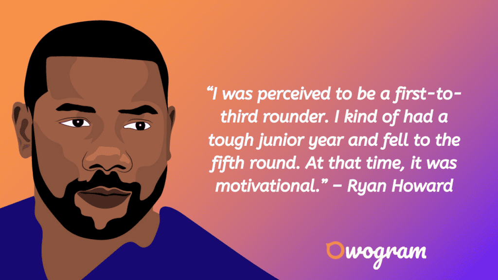 Quotes by Ryan Howard