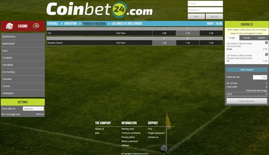 Coinbet 24 bitcoin betting site review