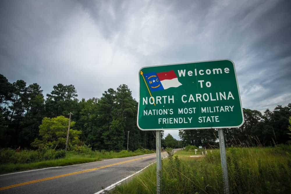 Largest states in USA - North Carolina