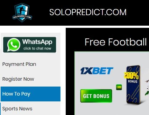 Solopredict site for correct score