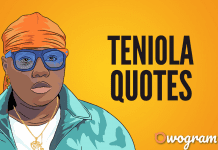 Teniola quotes and sayings