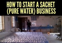 How to Start Sachet Pure Water Business In Nigeria