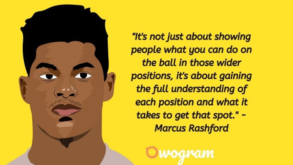 Quotes by Rashford about football