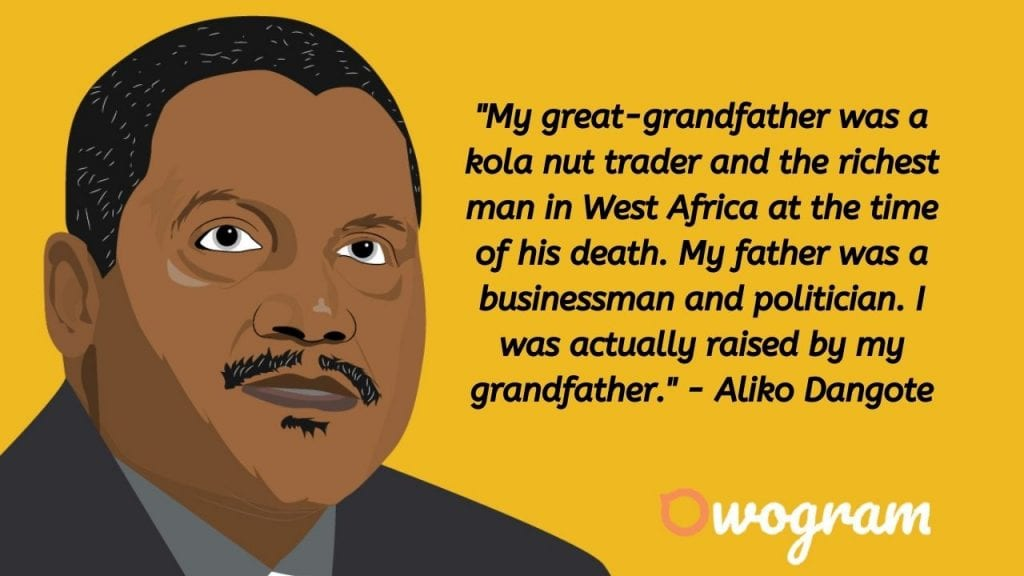 Aliko Dangote quotes about wealth