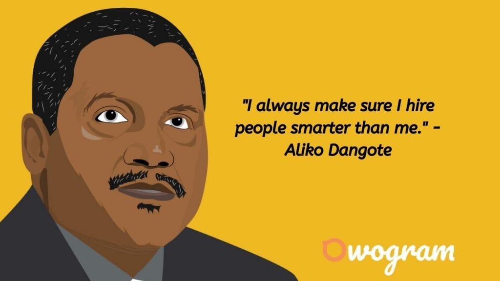 Quotes by Dangote about people