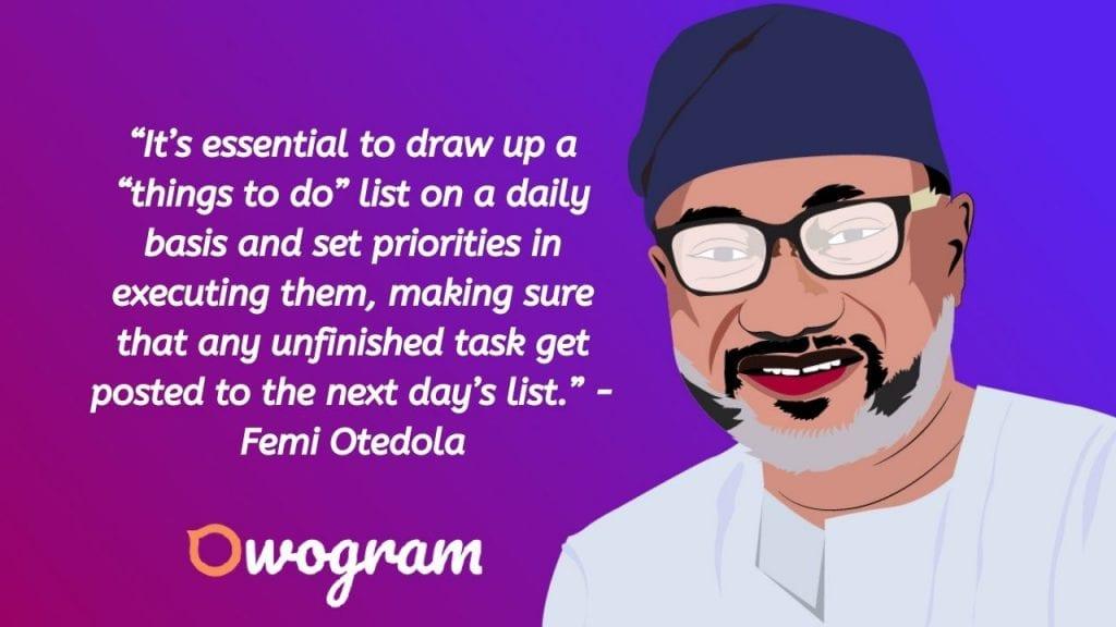 Femi Otedola quotes about priorities
