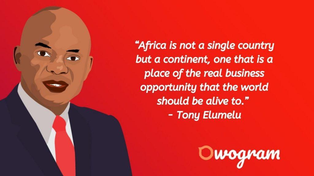 Tony Elumelu quotes about Africa