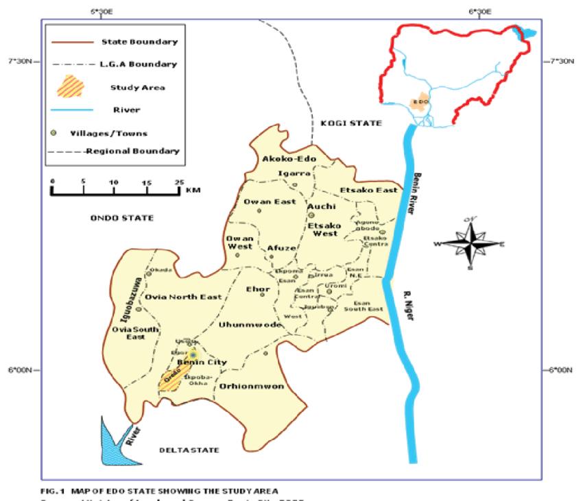 the land map of Edo