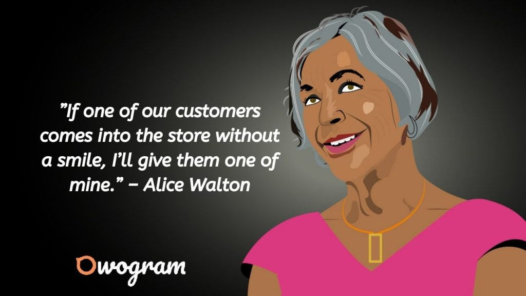 Quotes about smile by Alice Walton